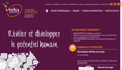 Capture d'écran du site de Vista