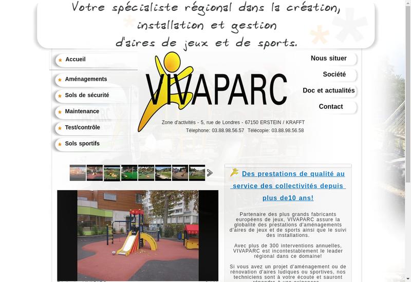 Capture d'écran du site de Vivaparc