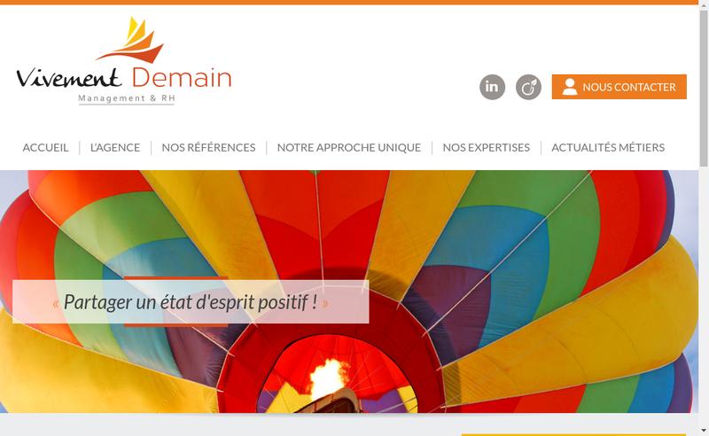 Capture d'écran du site de Vivement Demain