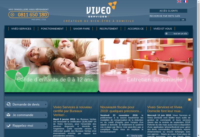Capture d'écran du site de Viveo Services Solutions