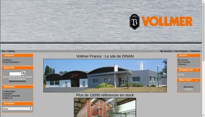 Site internet de Vollmer France