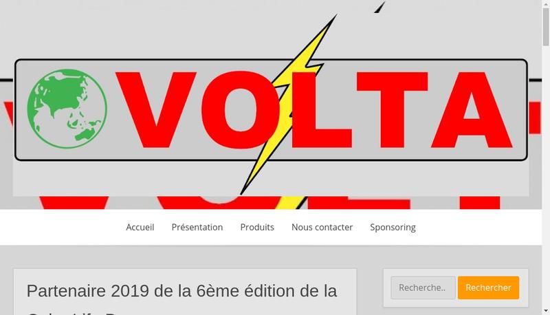 Capture d'écran du site de Volta