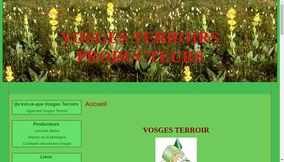 Site internet de Vosges Terroir