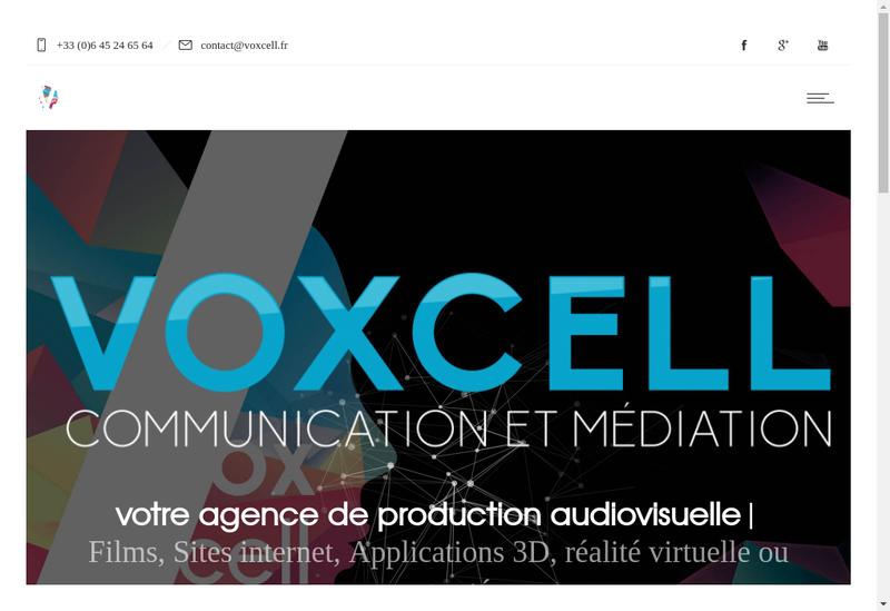 Capture d'écran du site de Voxcell