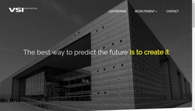 Capture d'écran du site de Vsi Innovation