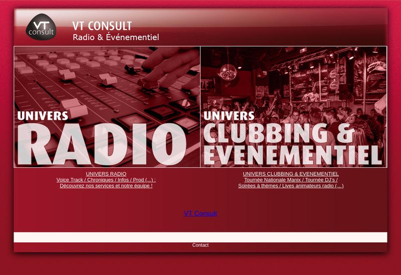 Capture d'écran du site de Vt Consult