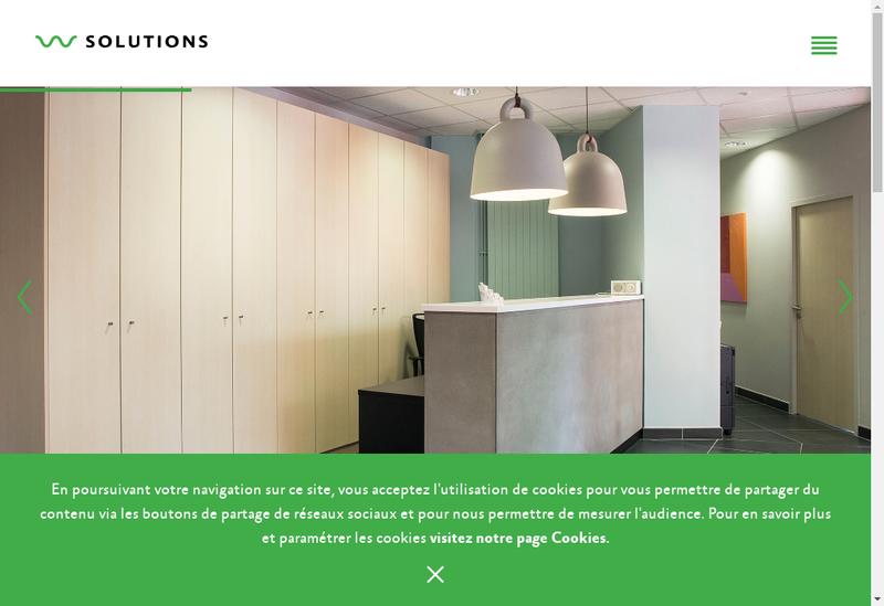 Capture d'écran du site de W Solutions