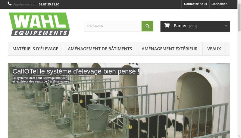 Capture d'écran du site de Wahl Equipements
