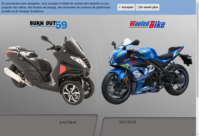 Capture d'écran du site de Wanted Bike