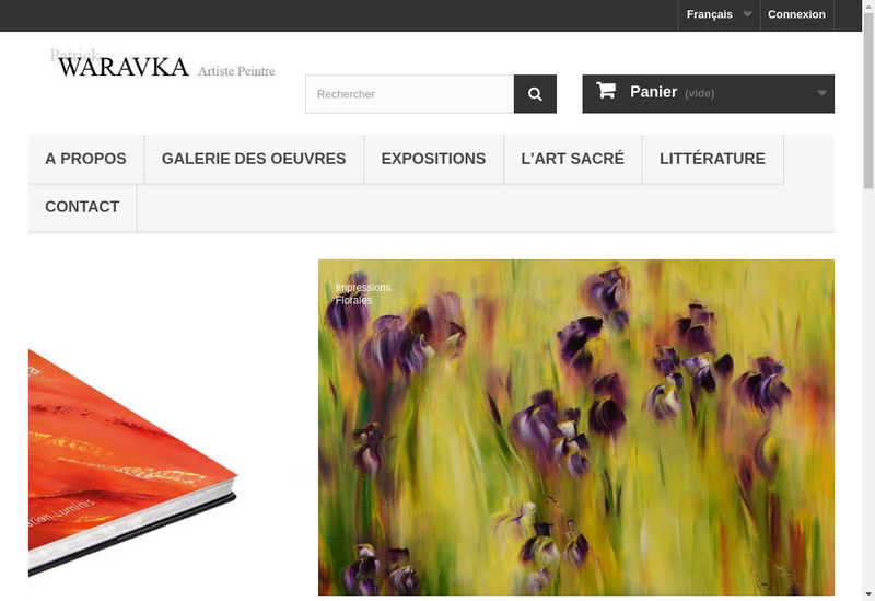Capture d'écran du site de Patrick Waravka