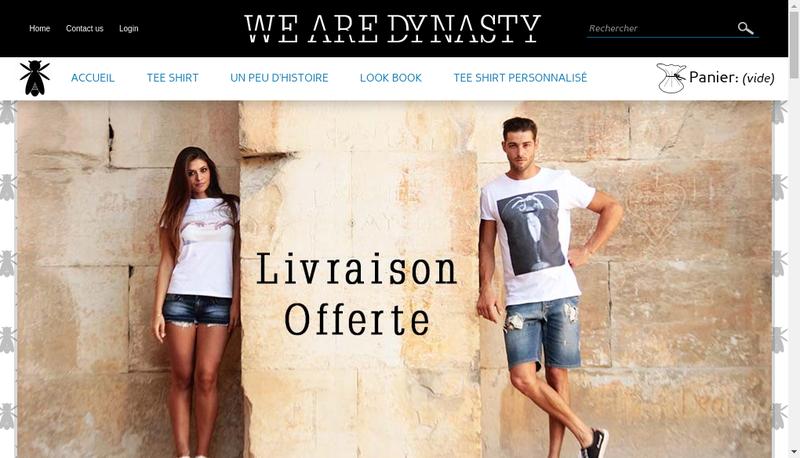Capture d'écran du site de We Are Dynasty