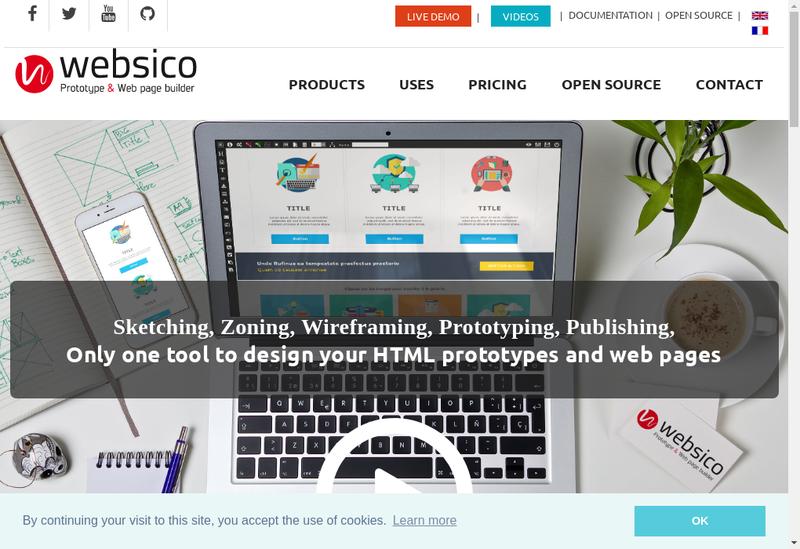 Capture d'écran du site de Websico