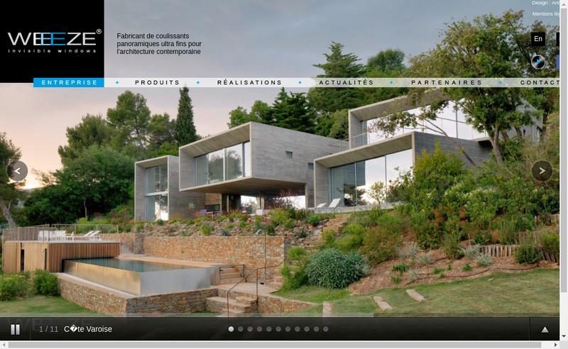 Capture d'écran du site de Pack Line