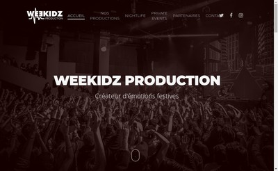 Site internet de Weekidz Production