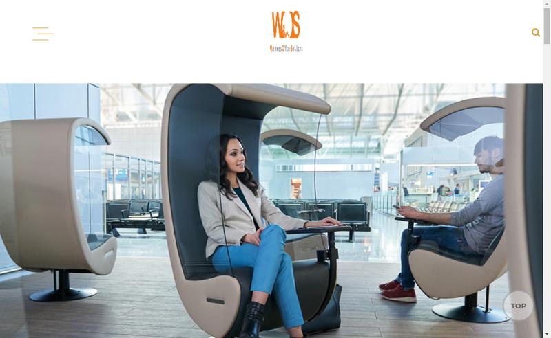 Capture d'écran du site de Wellness Office Solutions