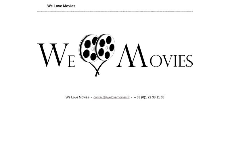 Capture d'écran du site de We Love Movies
