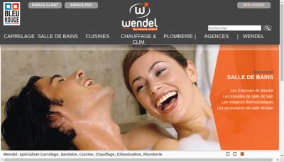 Capture d'écran du site de Etablissements Wendel Freres