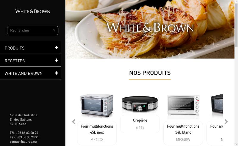 Capture d'écran du site de White And Brown