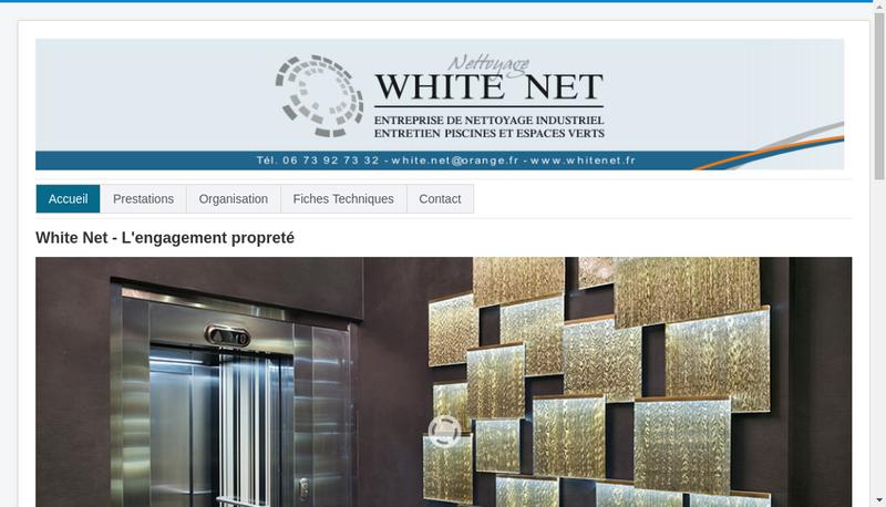Capture d'écran du site de White Net