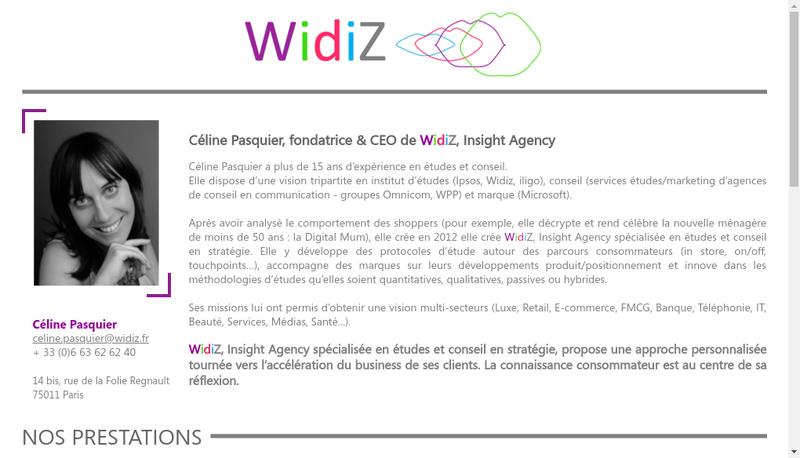 Capture d'écran du site de Widiz