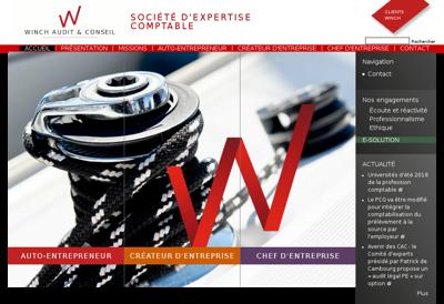 Capture d'écran du site de Winch Audit & Conseil