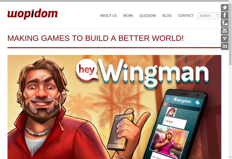 Capture d'écran du site de Wopidom