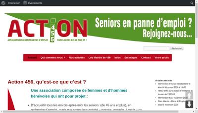 Capture d'écran du site de Action 456