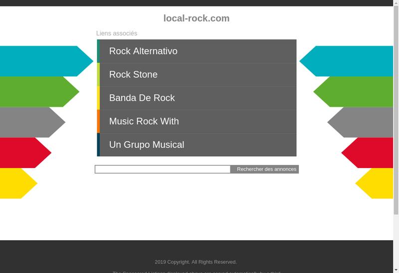 Capture d'écran du site de Le Local Rock