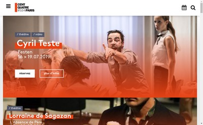 Site internet de 104 Cent Quatre