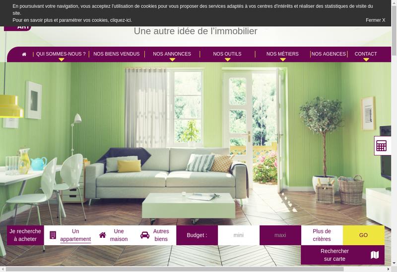 Capture d'écran du site de 20Eme Appart