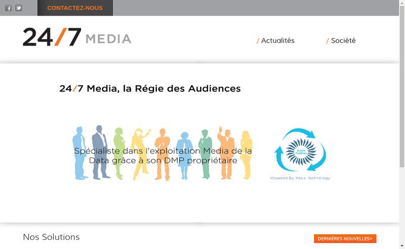 Capture d'écran du site de Real Media
