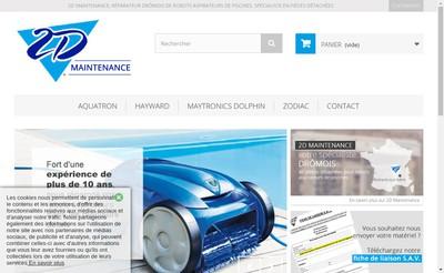 Site internet de 2D Maintenance