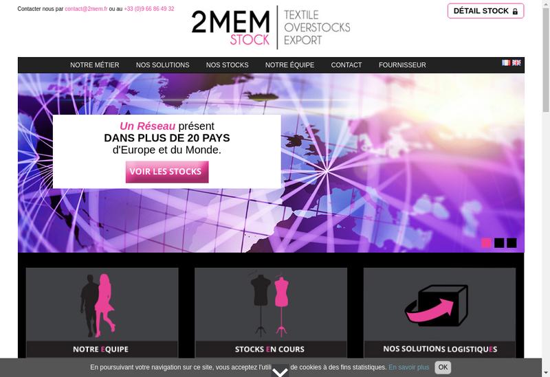 Capture d'écran du site de 2Mem Stock