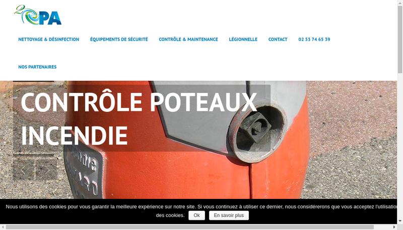 Capture d'écran du site de O' Top