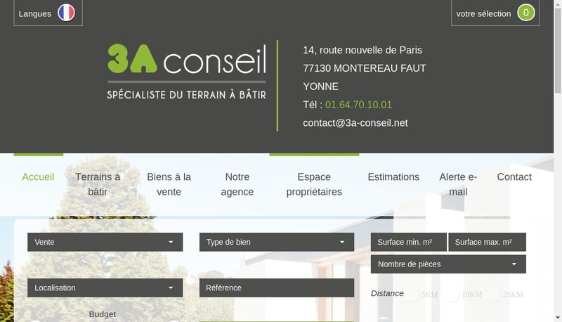 Capture d'écran du site de 3A Conseil
