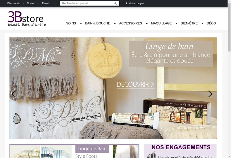 Capture d'écran du site de 3Bstore