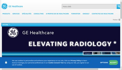 Site internet de Ge Healthcare