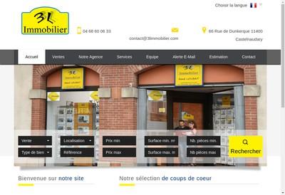Site internet de 3 l'Immobilier