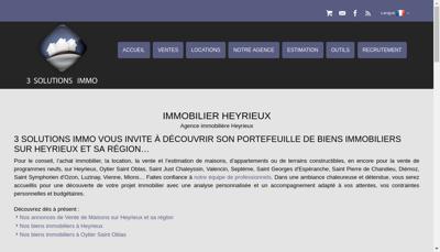 Capture d'écran du site de 3 Solutions Immo