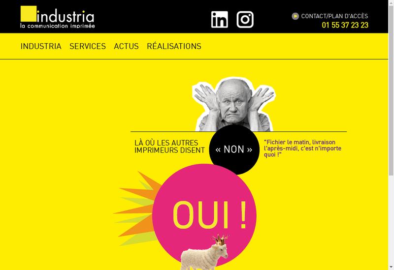 Capture d'écran du site de Ateliers Industria