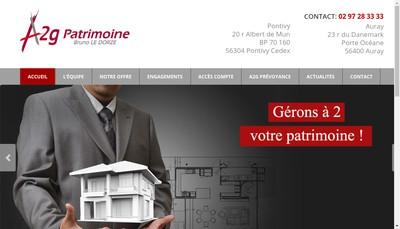 Site internet de A2G Patrimoine