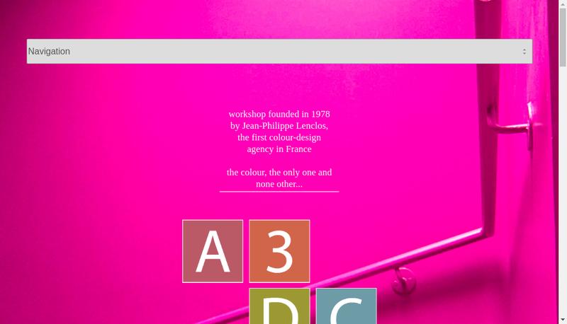 Capture d'écran du site de Atelier 3D Couleur
