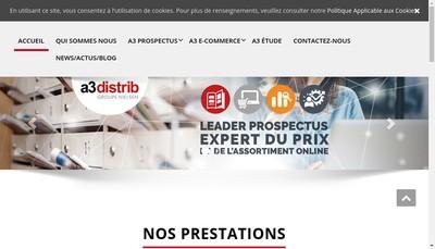 Site internet de A 3 Distrib