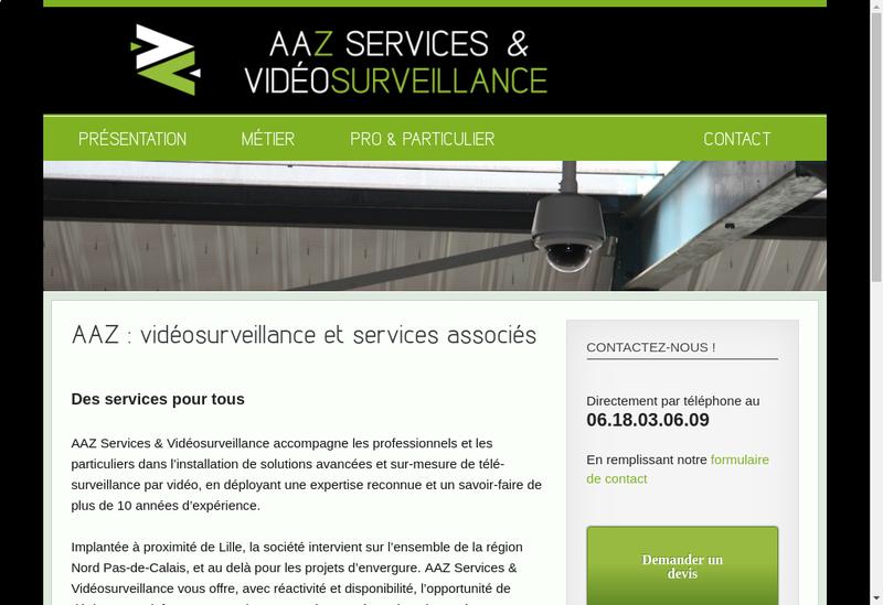 Capture d'écran du site de Aaz Services & Videosurveillance