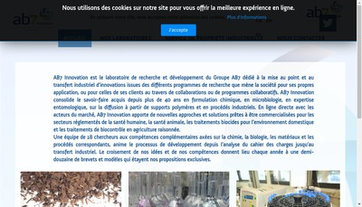 Site internet de Ab7 Innovation