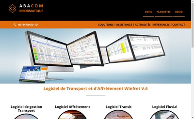 Site internet de Abacom Informatique