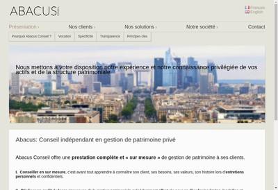 Site internet de Abacus Conseil