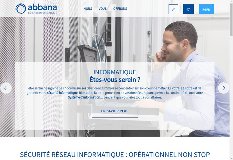 Capture d'écran du site de Abbana