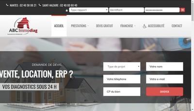 Site internet de Abc Immodiag