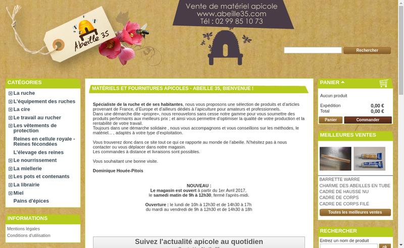 Capture d'écran du site de Houee-Pitois